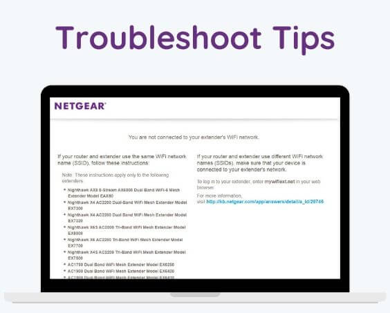 Troubleshoot Tips incsse unable to Connect to Netgear smart wizard website my wifi ext