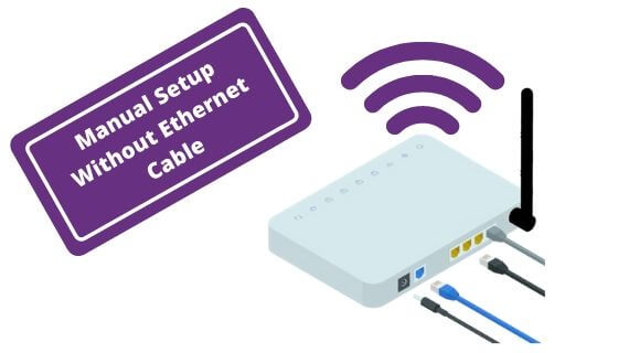 white color WiFi extender setup without Ethernet cable