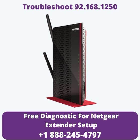 one black Wifi extender with troubleshoot 92.168.1250 Issues using my wifi ext help
