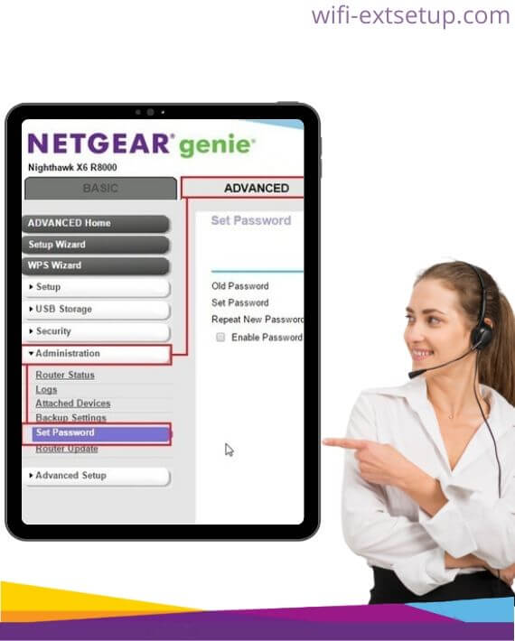 change netgear extender password using netgear genie smart wizard